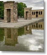 Reflecting On Millennia - Egyptian Temple Of Debod In Madrid Spain  Metal Print