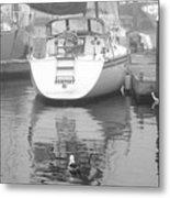 Reflecting On Newport Metal Print