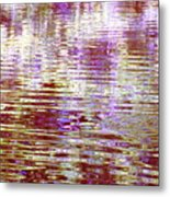 Reflecting Purple Water Metal Print