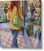 Reflecting Shopping Metal Print