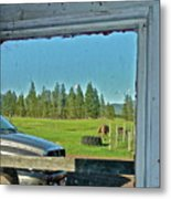 Reflecting The Country Metal Print