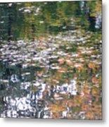 Fall Reflections 4 On Jamaica Pond Metal Print