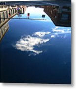 Reflection Glass Roof Metal Print