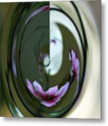 Reflection In A Drop Metal Print