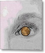 Reflection In A Golden Eye Metal Print