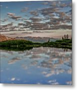 Reflection In A Mountain Pond Metal Print