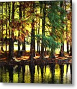 Reflection In Paint Metal Print