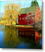 Reflection In Red Metal Print
