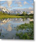 Reflection In Snake River At Grand Teton Metal Print