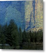 Reflection In The Merced River Metal Print