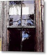 Reflection - In - The - Window  Metal Print