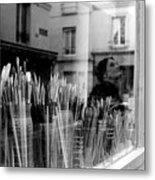 reflection in the Window Metal Print