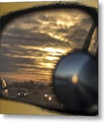Reflection Of A Sunset Metal Print