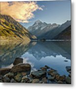 Reflection Of Aoraki Metal Print