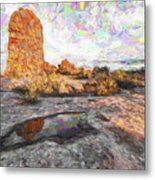 Reflection Of Arches IIi Metal Print