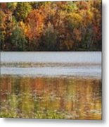 Reflection Of Autumn Colors In A Lake Metal Print
