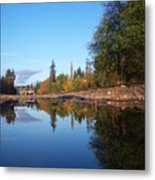 Reflection Of Autumn Metal Print