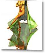 Reflection Of Golden Kali Dancer Metal Print