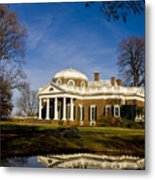 Reflection Of Monticello Metal Print