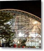 Reflection Of Navy Pier Ferris Wheel Metal Print