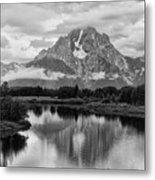 Reflection Of Signal Mountain Metal Print