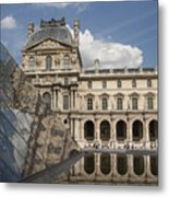 Reflection Of The Louvre 2 Metal Print