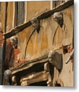 Reflection On Canal In Venice II Metal Print