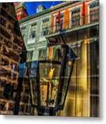 Reflection On Lamp Metal Print