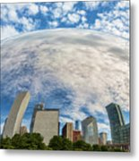 Reflection On The Bean Metal Print