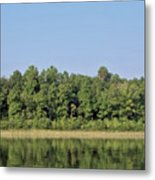 Reflection - On - The - Water Metal Print