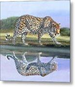 Reflection Stalk Metal Print