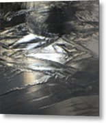 Reflections And Dark Ice #2  Metal Print