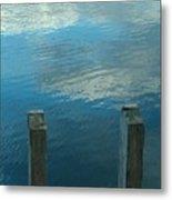 Reflections At Granite Pier Metal Print