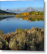 Reflections At Oxbow Bend Metal Print