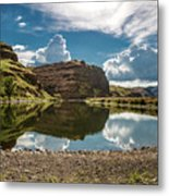 Reflections At The Pond Metal Print
