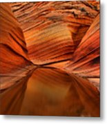 Reflections At The Wave Metal Print