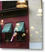 Reflections Building Nyc  Metal Print