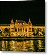 Reflections From Budapest University Metal Print