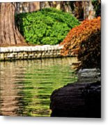 Reflections From The Riverwalk Metal Print