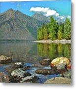Reflections Glacier National Park  Metal Print