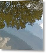Reflections In A Lake - Poster Edges Metal Print
