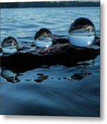 Reflections In Crystal Metal Print