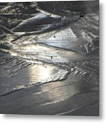 Reflections In Dark Ice 3 Metal Print