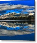 Reflections In Lac Beauvert Metal Print
