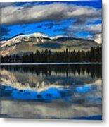 Reflections In Lake Beauvert Metal Print