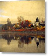 Reflections In Nakusp Metal Print