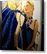 Reflections In The Mirror  Metal Print