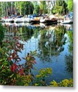 Reflections In The Pool Metal Print