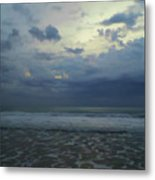 Reflections In The Surf Metal Print