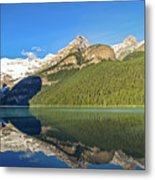Reflections In The Water At Lake Louise, Canada Metal Print